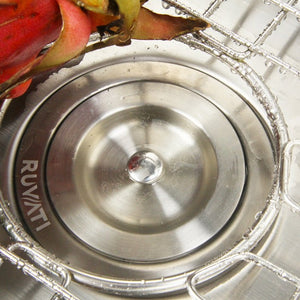"Ruvati 32"" Undermount 60/40 Double Bowl 16 Gauge Stainless Steel Kitchen Sink - RVM4400"