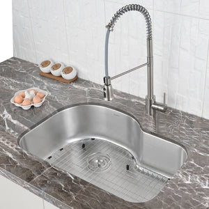 "Ruvati Undermount 32"" Kitchen Sink Stainless Steel 16 Gauge Single Bowl - RVM4700"