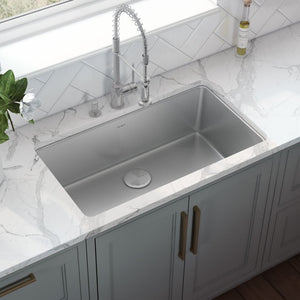 "Ruvati 31"" Undermount Kitchen Sink 16 Gauge Stainless Steel Single Bowl - RVM5931"