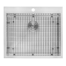 "Load image into Gallery viewer, Ruvati Topmount Laundry Utility Sink 25"" x 22"" x 12"" Deep 16 Gauge Stainless Steel - RVU6010"