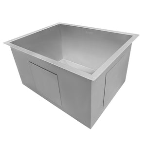 "Ruvati 21"" x 18"" x 12"" Deep Laundry Utility Sink Undermount 16 Gauge Stainless Steel - RVU6121"
