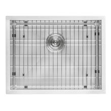"Load image into Gallery viewer, Ruvati 24"" x 18"" x 13"" Deep Laundry Utility Sink Undermount 16 Gauge Stainless Steel - RVU6124"