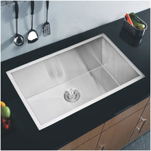 "Load image into Gallery viewer, Water Creation 32"" x 19"" Zero Radius Single Bowl Stainless Steel Hand Made Undermount Kitchen Sink SS-US-3219A-16"