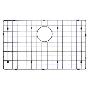 "Water Creation 32"" x 19"" 15mm Corner Radius Single Bowl Stainless Steel Hand Made Undermount Kitchen Sink With Drain, Strainer, And Bottom Grid SSSG-US-3219B-16"