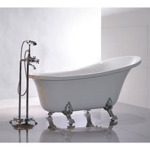 "Load image into Gallery viewer, Legion Furniture 69"" White Slipper Freestanding Acrylic Tub, No Faucet WE6310-J"