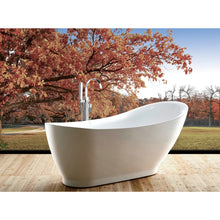 "Load image into Gallery viewer, Legion Furniture 71"" White Slipper Freestanding Acrylic Tub, No Faucet WE6512-J"