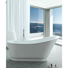 "Load image into Gallery viewer, Legion Furniture 67"" White Acrylic Tub, No Faucet WE6803-J"