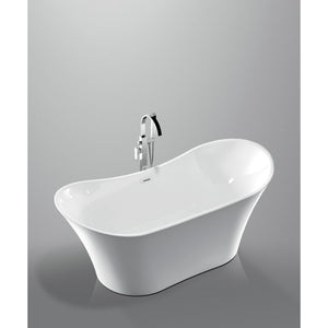 "Legion Furniture 67"" White Oval Freestanding Acrylic Tub, No Faucet WE6805-J"
