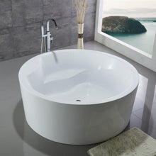 "Load image into Gallery viewer, Legion Furniture 59"" White Round Soaking Acrylic Tub, No Faucet WE6810-J"