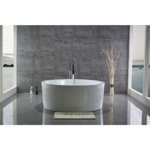 "Legion Furniture 59"" White Round Soaking Acrylic Tub, No Faucet WE6810-J"