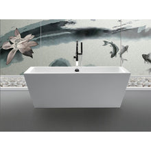 "Load image into Gallery viewer, Legion Furniture 67"" White Rectangular Freestanding Acrylic Tub, No Faucet WE6814-J"