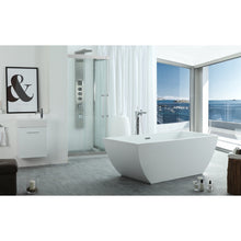 "Load image into Gallery viewer, Legion Furniture 67"" White Rectangular Freestanding Acrylic Tub, No Faucet WE6821-J"