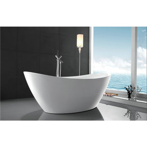 "Legion Furniture 71"" White Slipper Freestanding Acrylic Tub, No Faucet WE6842-J"