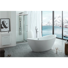 "Load image into Gallery viewer, Legion Furniture 71"" White Slipper Freestanding Acrylic Tub, No Faucet WE6842-J"