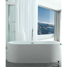 "Load image into Gallery viewer, Legion Furniture 66"" White Oval Freestanding Acrylic Tub, No Faucet WE6847-J"