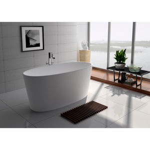 "Legion Furniture 62.2"" Matte White Solid Surface Tub, No Faucet WJ8602-W"