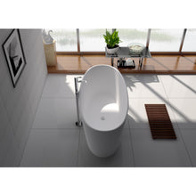 "Load image into Gallery viewer, Legion Furniture 62.2"" Matte White Solid Surface Tub, No Faucet WJ8602-W"