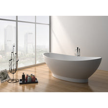 "Load image into Gallery viewer, Legion Furniture 70.7"" Matte White Solid Surface Tub, No Faucet WJ8620-W"