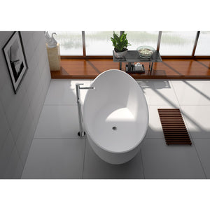 "Legion Furniture 71"" Matte White Solid Surface Tub, No Faucet WJ8643-W-L"