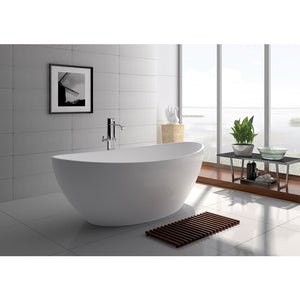 "Legion Furniture 63"" Matte White Solid Surface Tub, No Faucet WJ8643-W"
