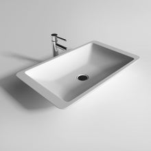 "Load image into Gallery viewer, Legion Furniture 23.6"" Matte White Vessel Solid Surface Bathroom Sink Bowl WJ9002"