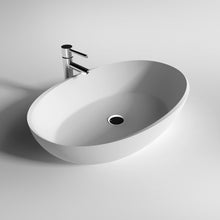 "Load image into Gallery viewer, Legion Furniture 23.6"" Matte White Vessel Solid SurfaceBathroom Sink Bowl WJ9077"