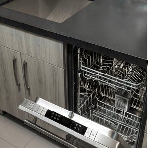 "ZLINE 24"" Top Control Dishwasher in DuraSnow® Stainless Steel with Stainless Steel Tub and Modern Style Handle DW-SS-24"
