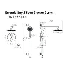 Load image into Gallery viewer, ZLINE Emerald Bay Thermostatic Shower System