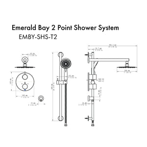 ZLINE Emerald Bay Thermostatic Shower System