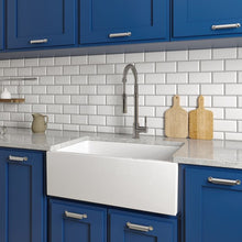 Load image into Gallery viewer, ZLINE Venice Farmhouse Reversible Fireclay Sink in White Gloss FRC5119-WH-30