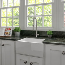 Load image into Gallery viewer, ZLINE Venice Farmhouse Reversible Fireclay Sink in White Gloss FRC5120-WH-24