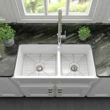 Load image into Gallery viewer, ZLINE Palermo Farmhouse Reversible Fireclay Sink in White Gloss FRC5121-WH-36