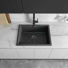 Load image into Gallery viewer, ZLINE Rome Dual Mount Fireclay Sink in Charcoal FRC5123-CL-24