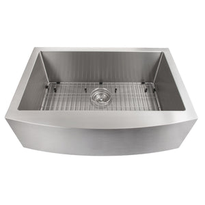 "ZLINE Vail Farmhouse 33"" Undermount Single Bowl Sink in Stainless Steel SAS-33"