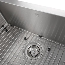 "Load image into Gallery viewer, ZLINE Vail Farmhouse 33"" Undermount Single Bowl Sink in Stainless Steel SAS-33"