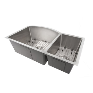 "ZLINE Cortina 33"" Undermount Double Bowl Sink in Stainless Steel SC70D-33"
