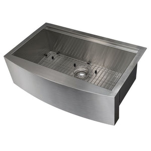 "ZLINE Moritz Farmhouse 33"" Undermount Single Bowl Sink in Stainless Steel with Accessories SLSAP-33"