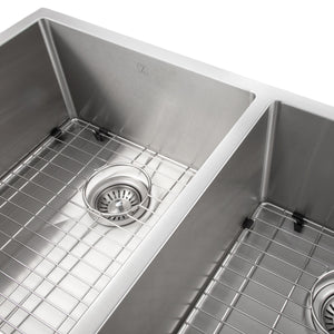 "ZLINE Anton 36"" Undermount Double Bowl Sink in Stainless Steel SR50D-36"