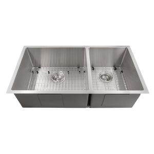 "ZLINE Chamonix 36"" Undermount Double Bowl Sink in Stainless Steel SR60D-36"