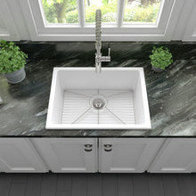 Load image into Gallery viewer, ZLINE Rome Dual Mount Fireclay Sink in White Matte FRC5123-WM-24