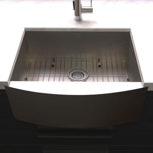 "ZLINE Zermatt Farmhouse 30"" Undermount Single Bowl Sink in DuraSnow¨ Stainless Steel SAS-30S"