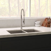"Load image into Gallery viewer, ZLINE Chamonix 36"" Undermount Double Bowl Sink in DuraSnow¨ Stainless Steel SR60D-36S"