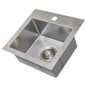 "ZLINE Donner 15"" Topmount Single Bowl Bar Sink in DuraSnow¨ Stainless Steel STS-15S"