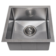 "Load image into Gallery viewer, ZLINE Boreal 15"" Undermount Single Bowl Bar Sink in DuraSnow¨ Stainless Steel SUS-15S"