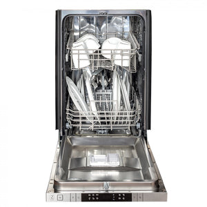 "ZLINE 18"" Top Control Dishwasher in DuraSnow® Finished Stainless Steel with Stainless Steel Tub and Modern Style Handle DW-SS-18"