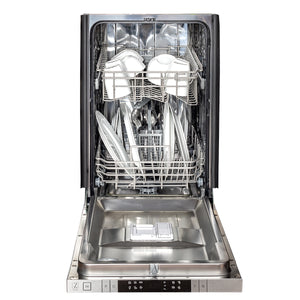 "ZLINE 18"" Top Control Dishwasher in Red Gloss with Stainless Steel Tub and Modern Style Handle DW-RG-H-18"