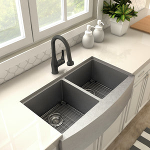ZLINE Dali Kitchen Faucet in Electric Matte Black (DAL-KF-MB)