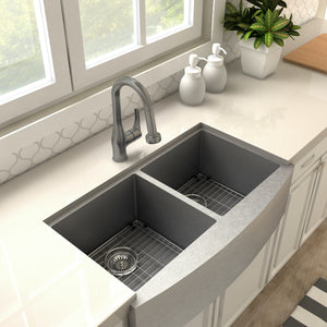 ZLINE Dali Kitchen Faucet in Gun Metal (DAL-KF-GM)