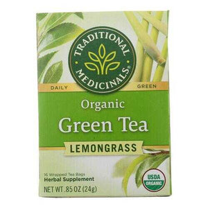 Traditional Medicinals Organic Golden Green Tea - 16 Tea Bags - Case of 6