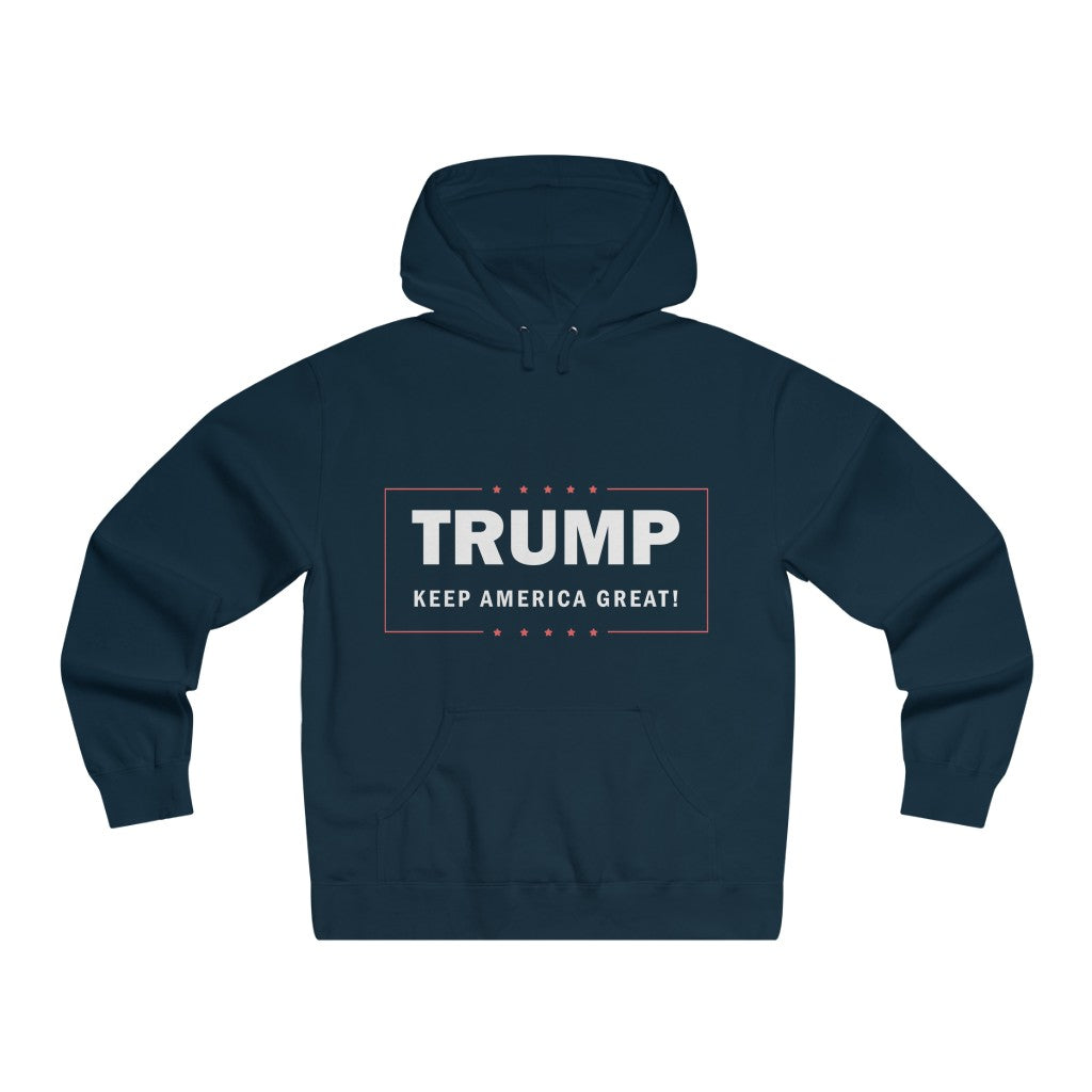 """Trump, Keep America Great' Men's Lightweight Pullover Hooded Sweatshirt"